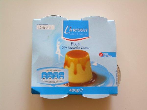 flan 0% materia grasa LINESSA (LIDL) | El blog de las marcas blancas (www.blog-marcas-blancas.blogspot.com)