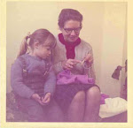 Grandmother Wanda teaching me how to knit! (1971)