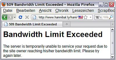 Bandwidth Limit Exceeded