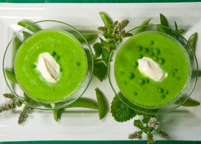 Vegetarian recipes collected by Jane Susanna Ennis: Pea and Mint Soup