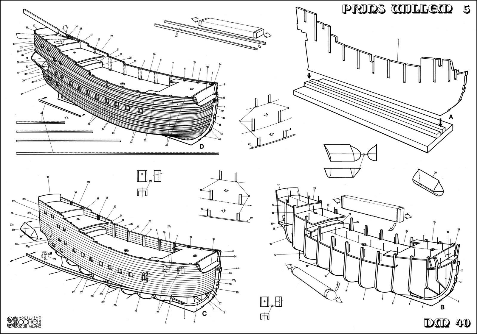 Корабль из дерева своими руками чертежи для школьников 19