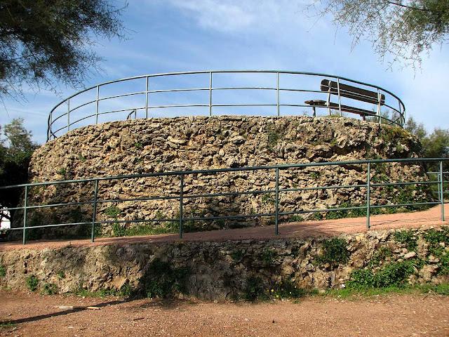 Bench on a spiral mound, Ardenza, Livorno