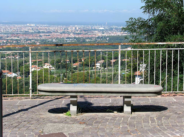 Bench with a view of Livorno, Montenero, Livorno