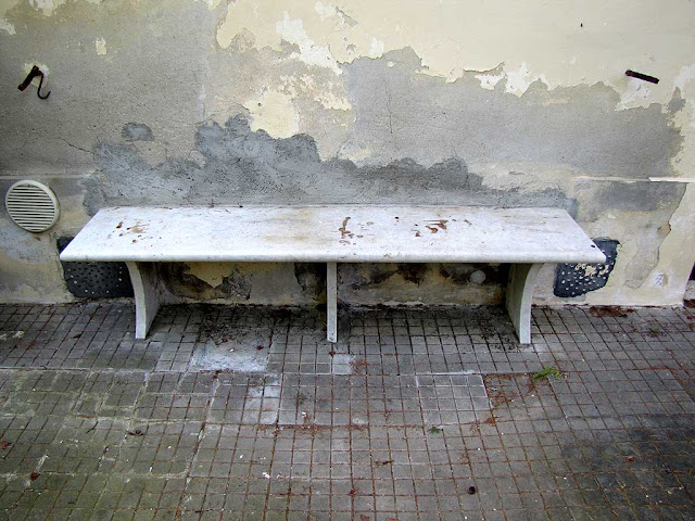 Marble bench, private garden, Livorno