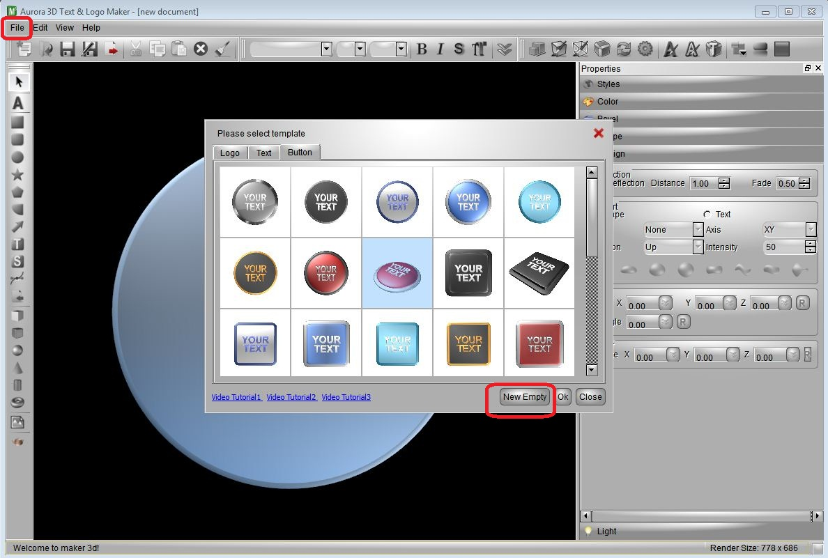 inkscape how to create a sphere and add logo