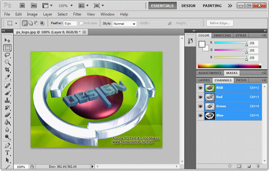3d text logo animation design aurora3d software how to