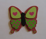 Magenta/Green Butterfly Bow holder