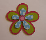 Green/Blue/Pink Flower Bow Holder