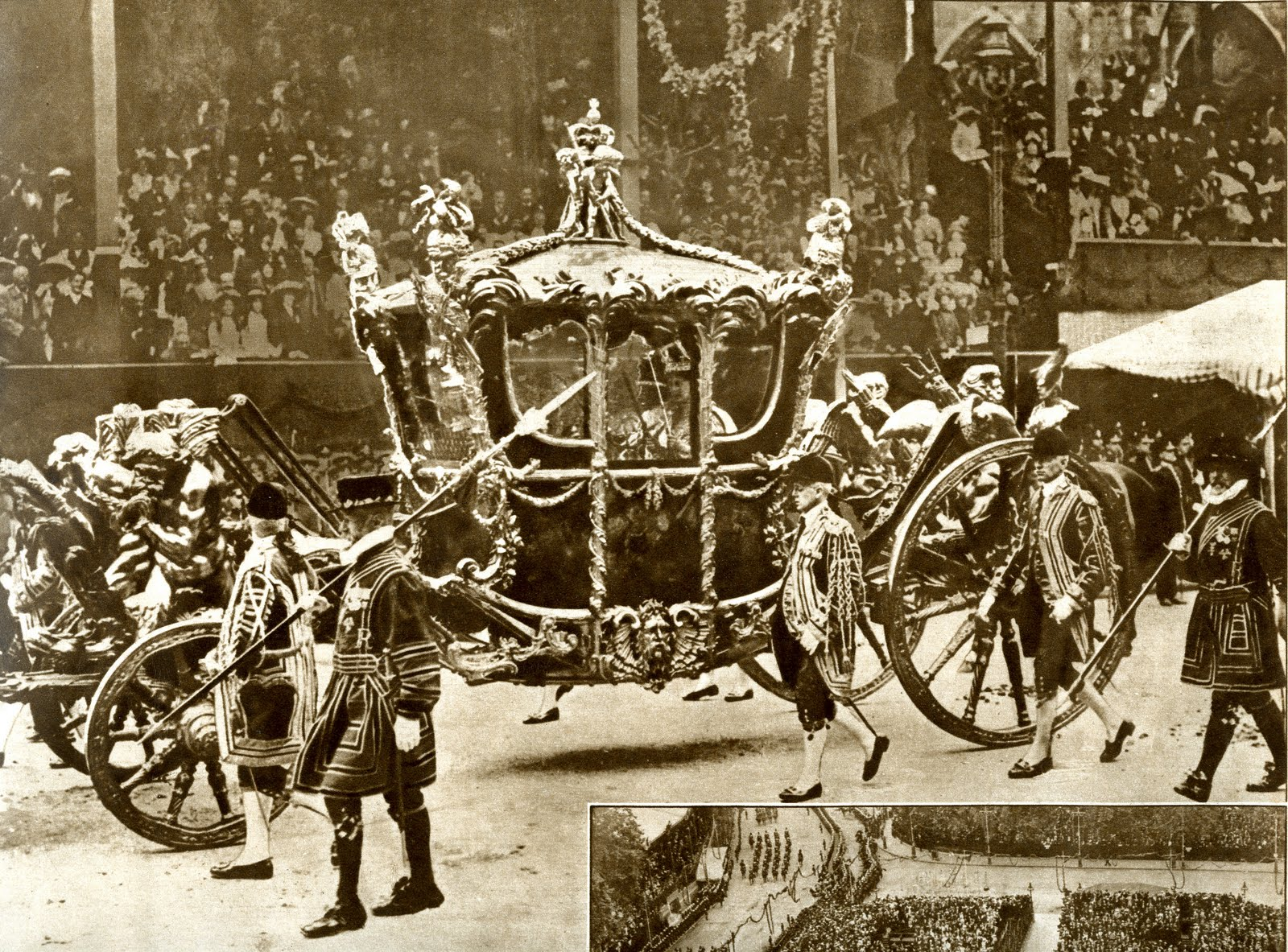 A true life love story the coronation of king george vi for Chaise carriage
