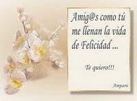 Gracias querida amiga Amparo tu amistad esta muy valorada por mi corazon