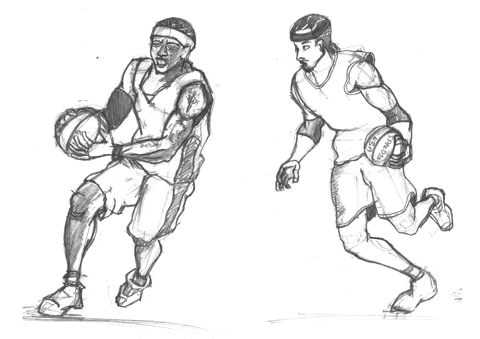Basketball Player Sketches | Www.pixshark.com - Images Galleries With A Bite!