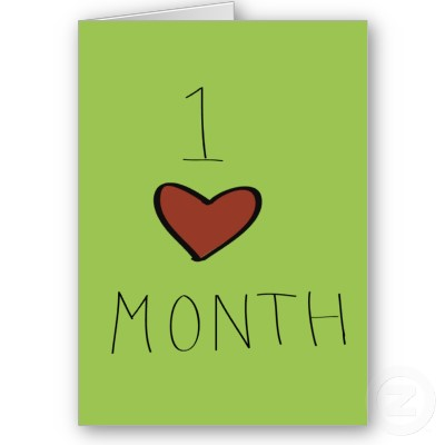 one month dating anniversary