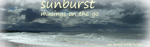 sunburst, musings on the go