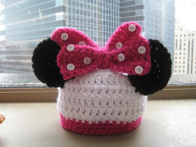 Adorable Minnie Mouse Baby Hat ( Free Pattern) / Crochet ...