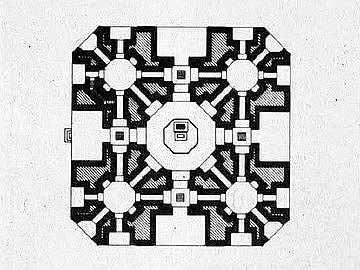 Indija Osmougaona+osnova+mauzoleja