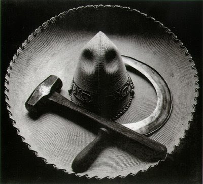 Tina Modotti, Mexican Sombrero with Hammer and Sickle