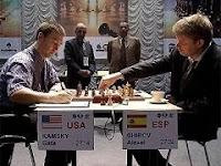 Shirov contra Kamsky en la Copa del Mundo de Ajedrez 2007