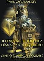 Cartel del II Festival de Ajedrez Rivas Vaciamadrid