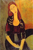Cuadro de Amedeo Modigliani, Retrato de Jeanne Hebuterne