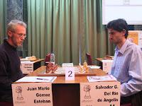 Gómez contra Del Río en ajedrez