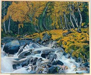 Cuadro al óleo de Pilar Ochoa titulado: El bosque enmarañado