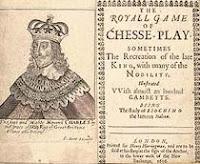 Portada de un libro de ajedrez de Greco el Calabrés - The Royall Game of Chess-Play