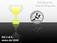 Cartel del XIX Open Internacional de Ajedrez Villa de Roquetas