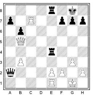 Problema ejercicio de ajedrez número 558: Larsen - Amado (Buenos Aires, 1983)