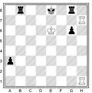 Problema de ajedrez número 473: Estudio de H. Rinck (1922)