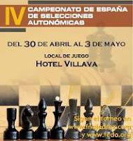 Cartel del IV Campeonato de España de Ajedrez de Selecciones Autonómicas
