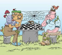 Una larga partida de ajedrez