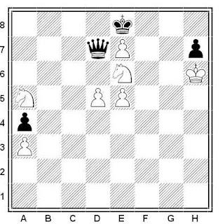 Problema ejercicio de ajedrez número 549: Estudio de G. M. Kasparian (1960)