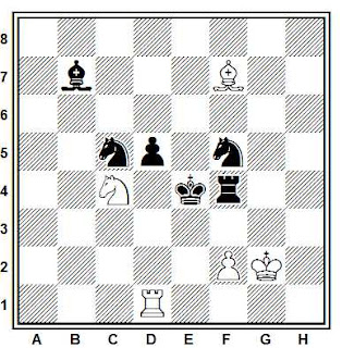 Problema ejercicio de ajedrez número 633: Estudio de Luis Miguel González (1997)