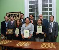 todos los premiados en la III edición de los Premios a la Promoción del Ajedrez Español
