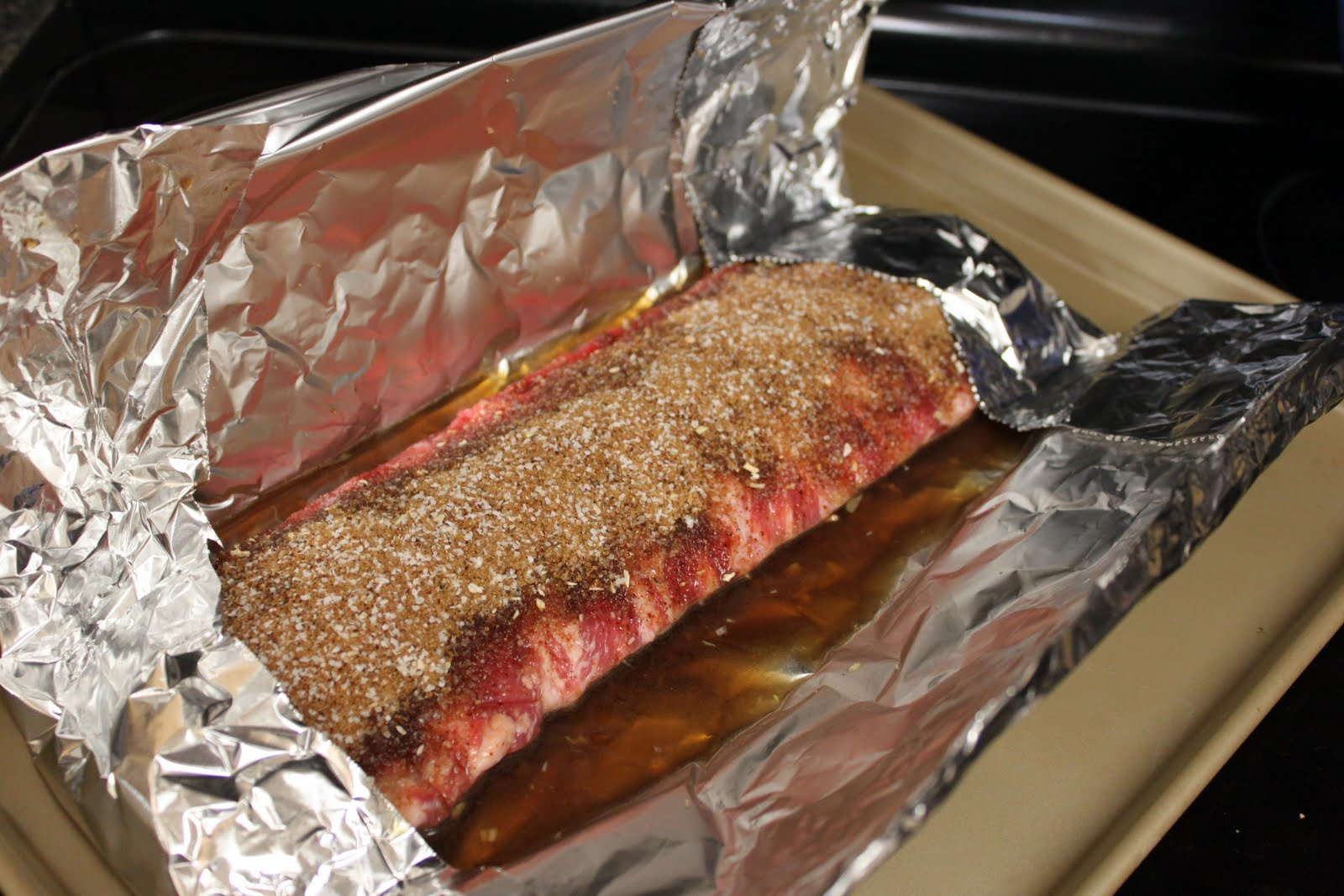how to cook a slab of ribs in the oven