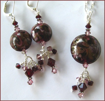 Cabernet  Necklace & Earring Set