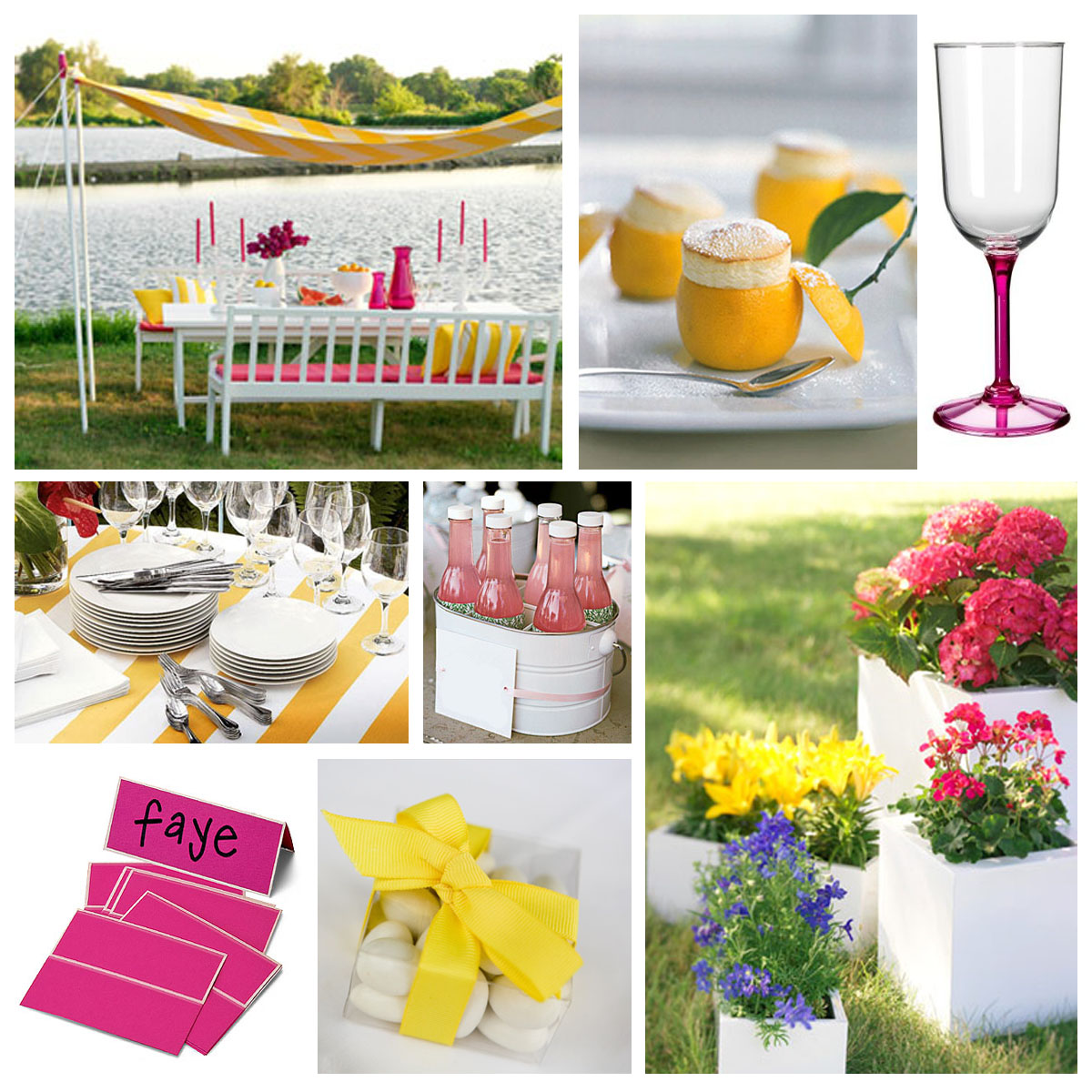 fluff & stuff pink and yellow, anyone? ~ 214418_Birthday Party Ideas Yellow