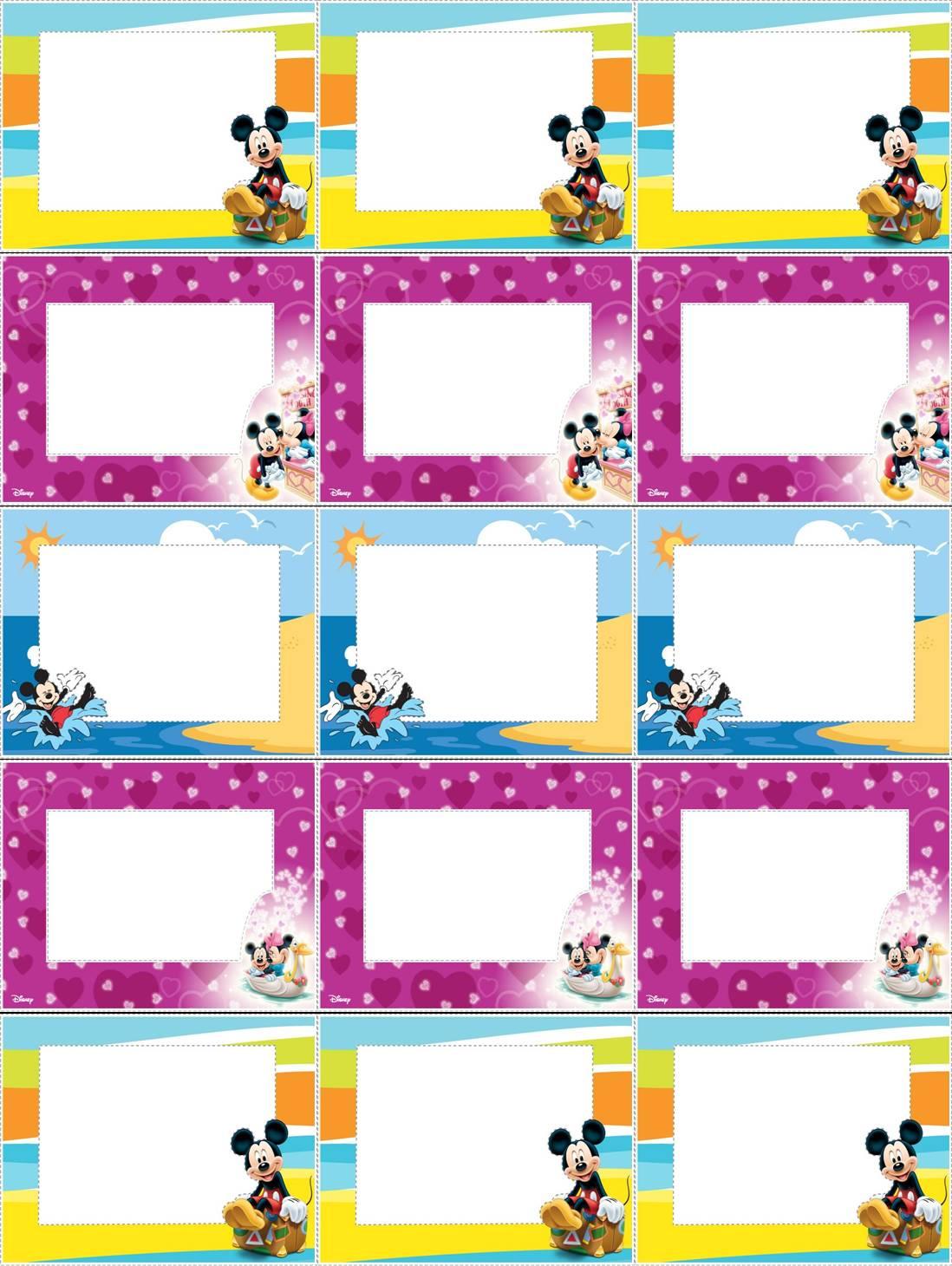 Etiquetas Para Livros Escolares Do Mickey  Michey Mouse Labels
