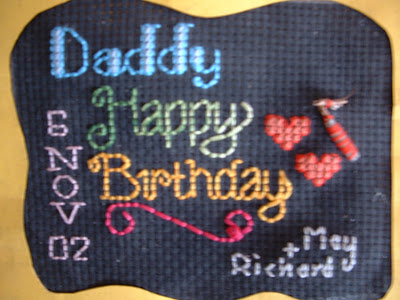 Cross Stitch Malaysia: A Birthday Card for my father in