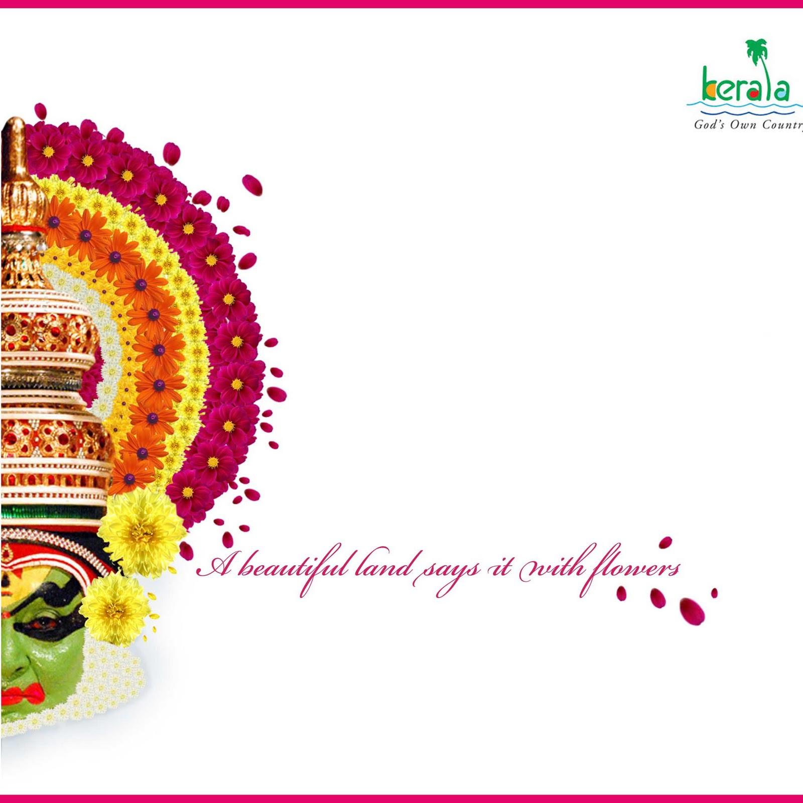 Creative Design Area Kerala Tourism Onam Greeting Card 2010