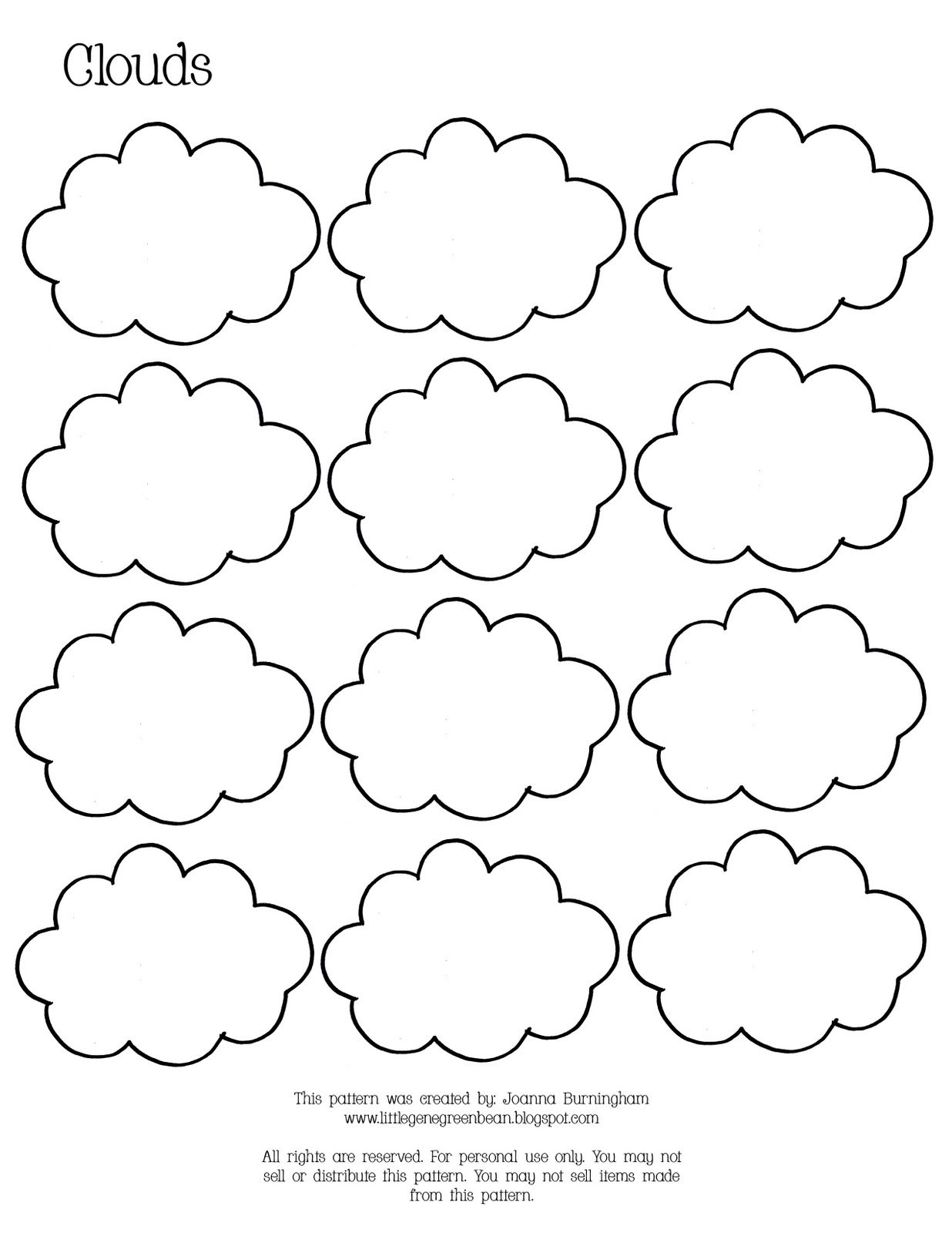 Little Gene Green Bean Rain and Clouds Unit 4 – Clouds Worksheet