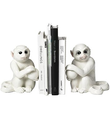 Mottaheded Monkey Bookends