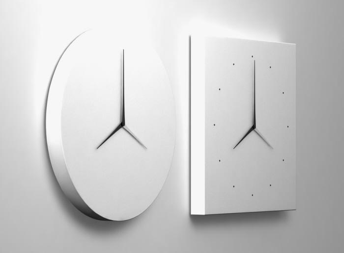 LongD Dual Time Wall Clock by Kit Men Design Scene Fashion