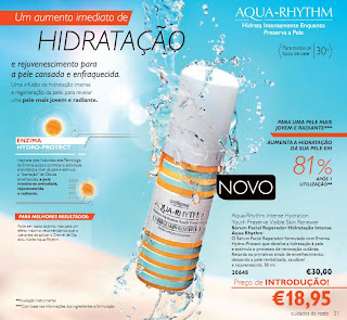 Hidratação Aqua- Rhythm Oriflame