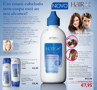 Gama Anti-Caspa HairX da Oriflame