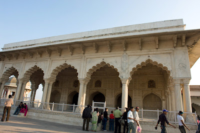Beautiful building in the Agra Fort