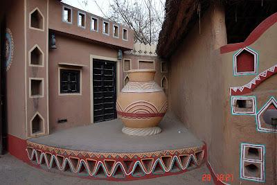 Chokhi Dhaani in Jaipur - A large earthen pot