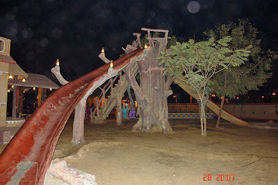 Chokhi Dhaani in Jaipur - The great slide for kids to enjoy