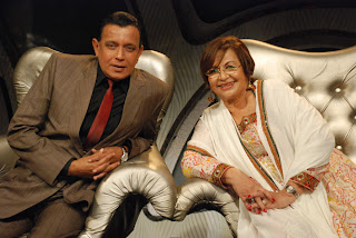 Helen with Mithun da on Zee TV Dance India Dance