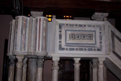 Coptic area of Cairo - inside a Church